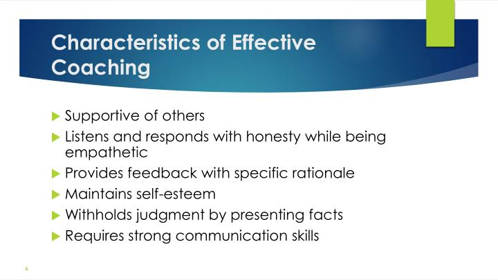Characteristics of Effective Coaching