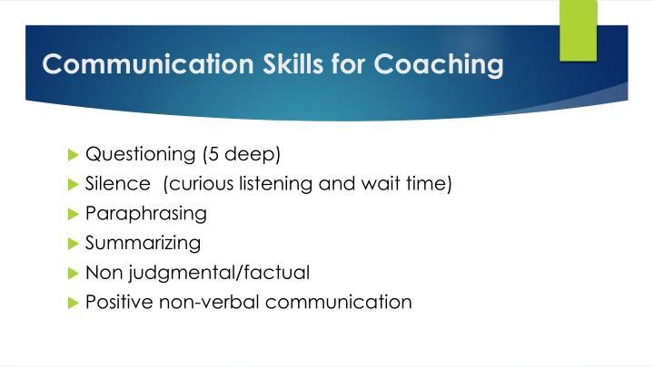 Communication Skills for
