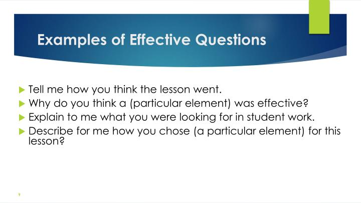 Examples of Effective Questions