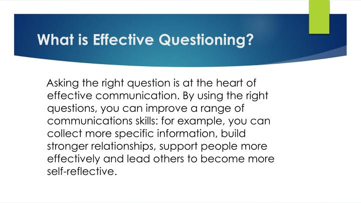 What is Effective Questioning?
