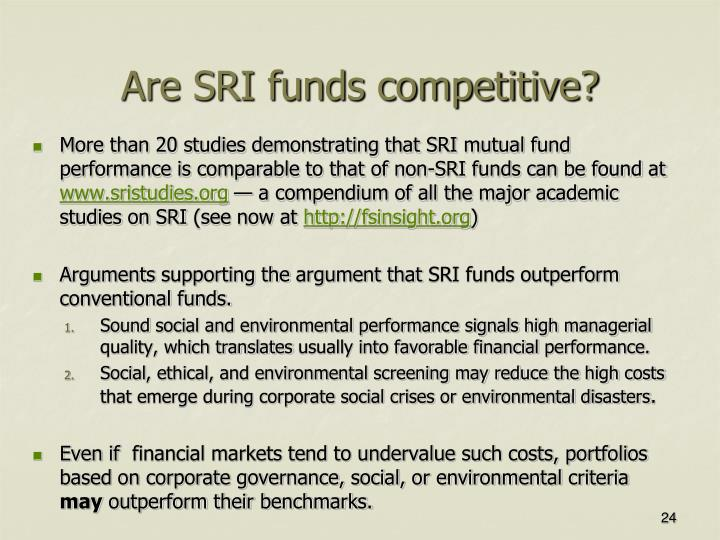 Are SRI funds competitive?
