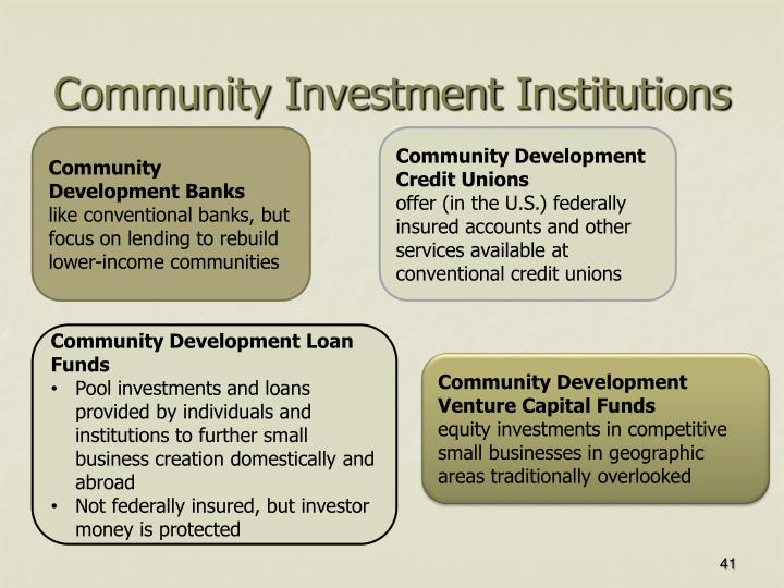 Community Investment Institutions