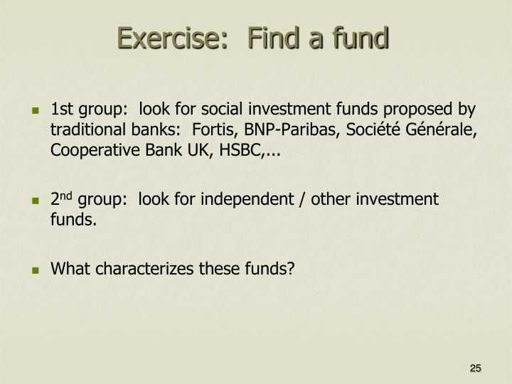 Exercise:  Find a fund