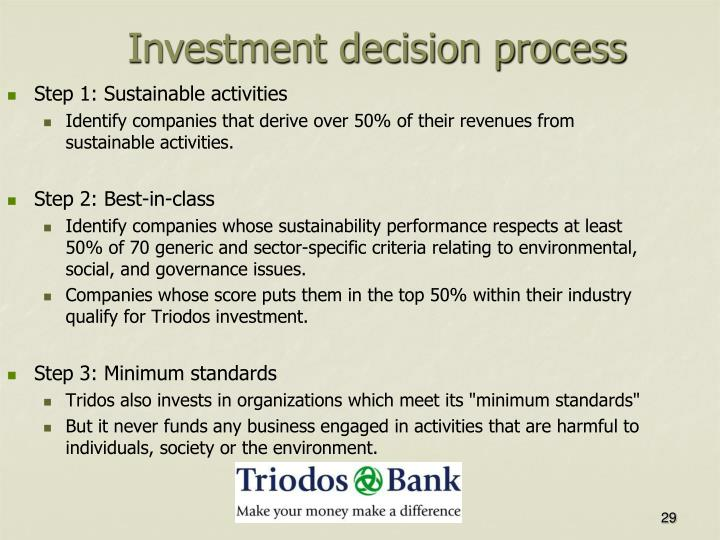 Investment decision process