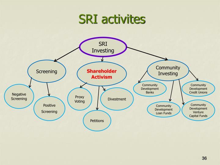 SRI activites
