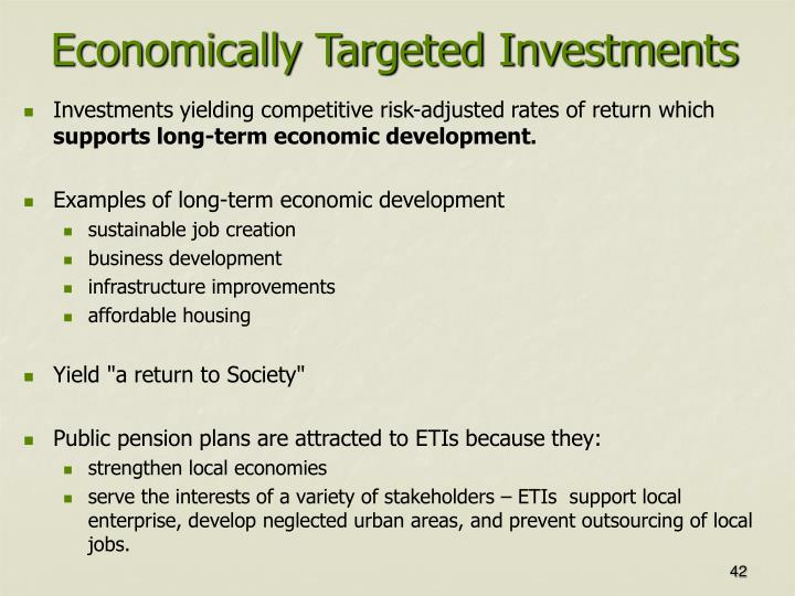 Economically Targeted Investments