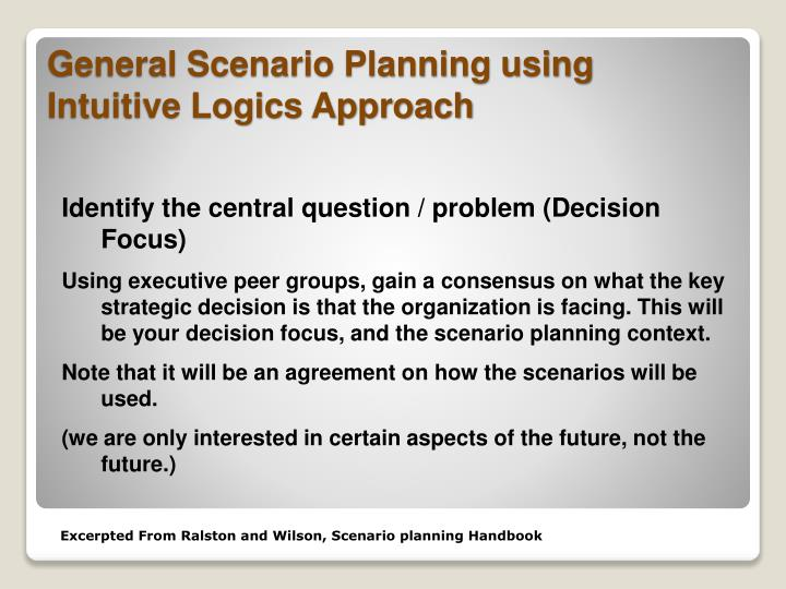 Identify the central question / problem (Decision Focus)