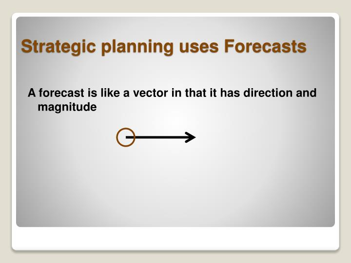 A forecast is like a vector in that it has direction and magnitude