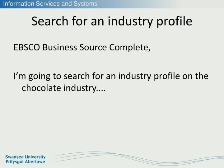 Search for an industry profile