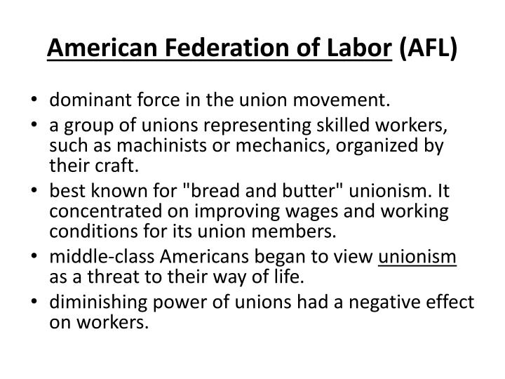 American Federation of Labor