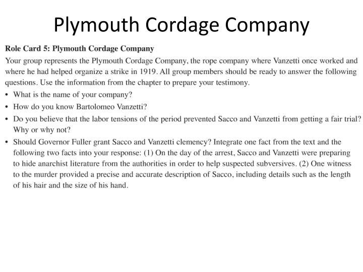 Plymouth Cordage Company
