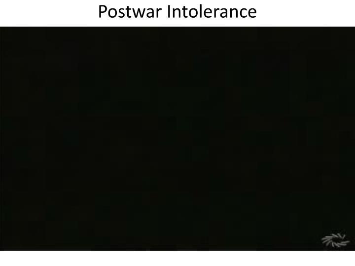 Postwar Intolerance