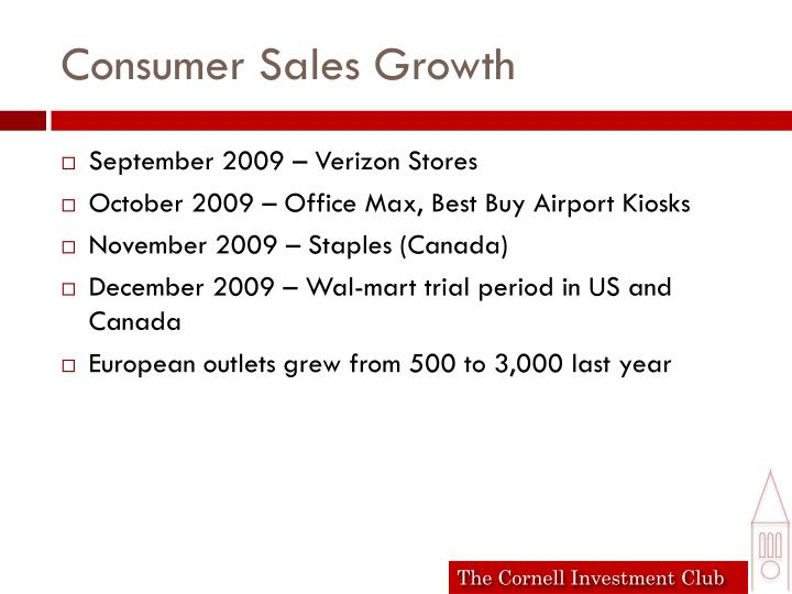 Consumer Sales Growth