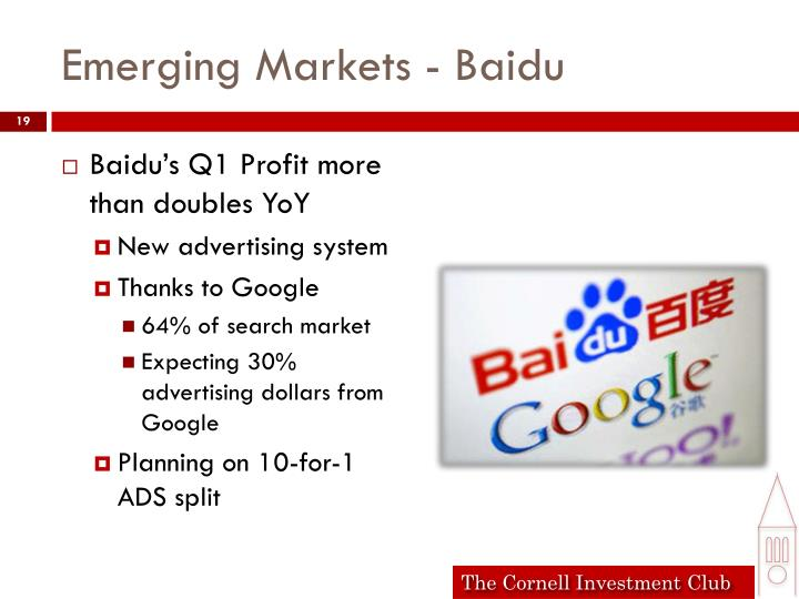 Emerging Markets - Baidu