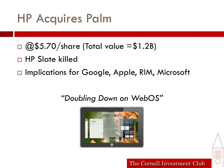 HP Acquires Palm