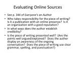 evaluating online sources1