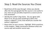 step 2 read the sources you chose