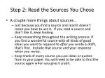 step 2 read the sources you chose1