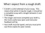 what i expect from a rough draft