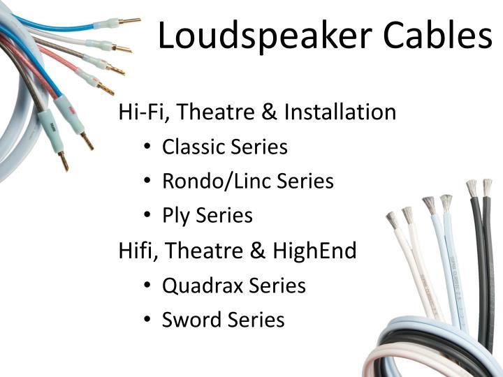 Loudspeaker Cables