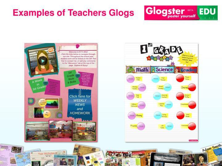Examples of Teachers Glogs