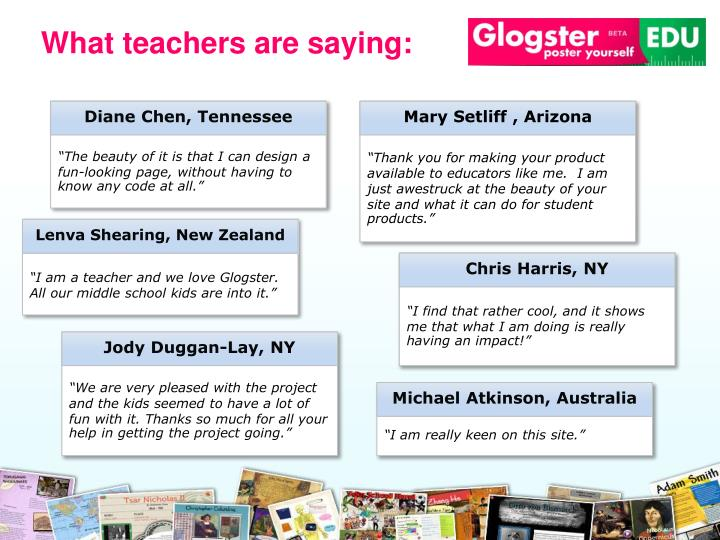 What teachers are saying: