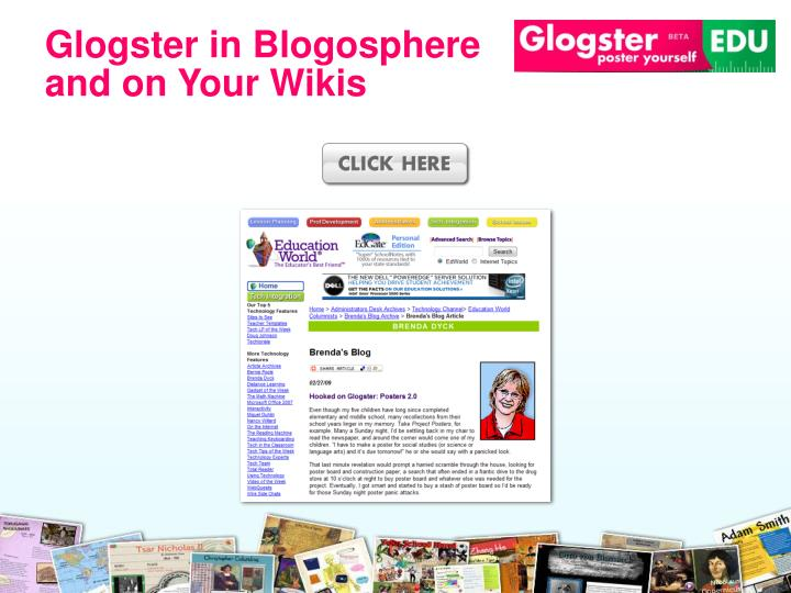 Glogster in Blogosphere and on Your Wikis
