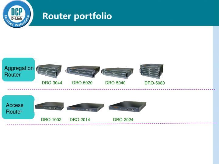 Router portfolio