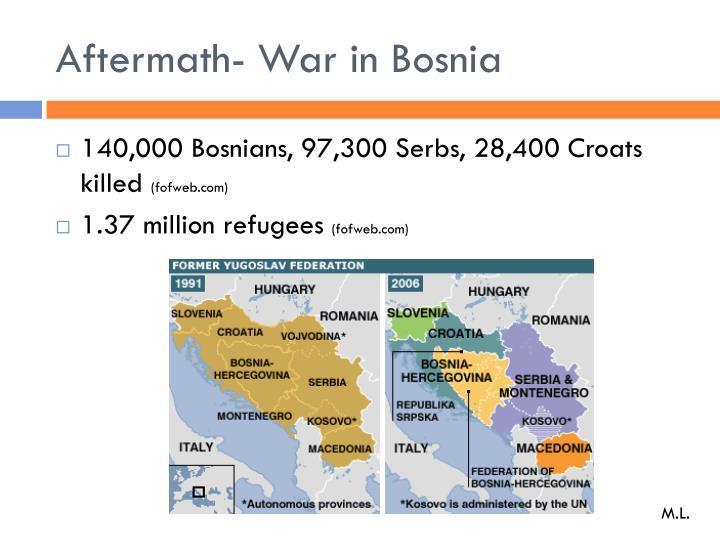 Aftermath- War in Bosnia