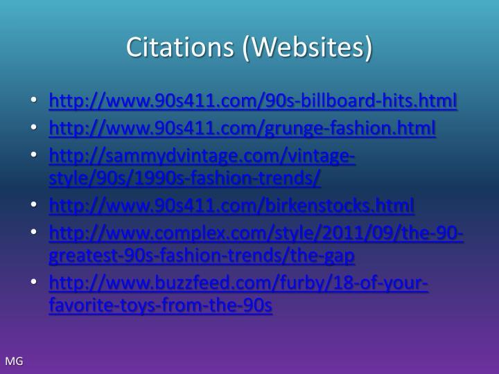 Citations (Websites)