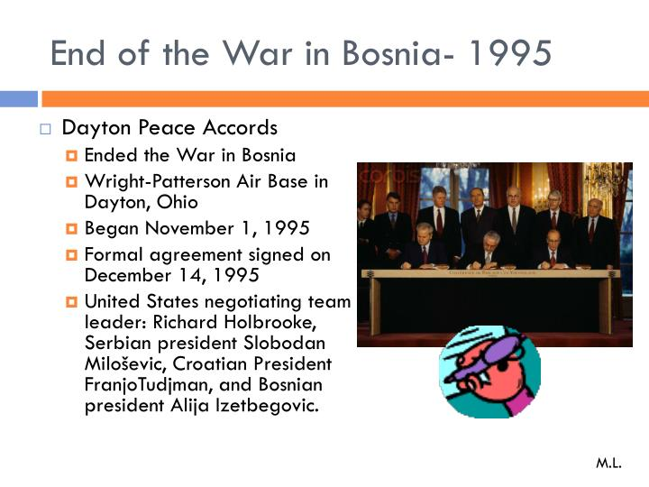 End of the War in Bosnia- 1995