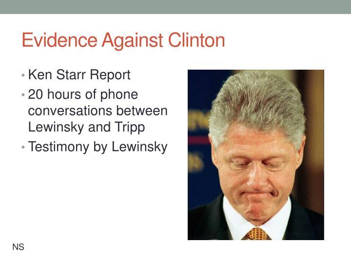 Evidence Against Clinton