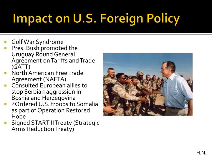 Impact on U.S. Foreign Policy
