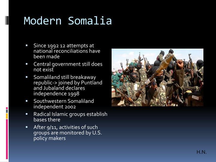 Modern Somalia