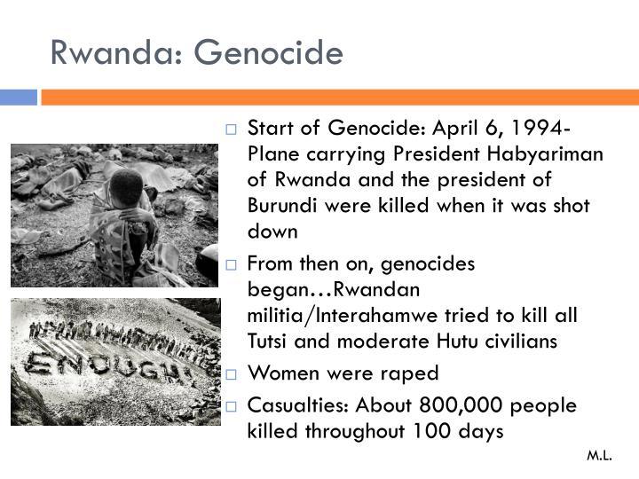 Rwanda: Genocide