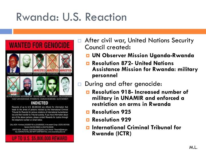 Rwanda: U.S. Reaction