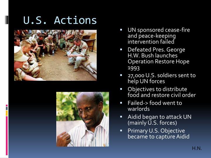 U.S. Actions