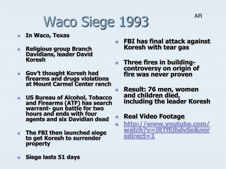 In Waco, Texas