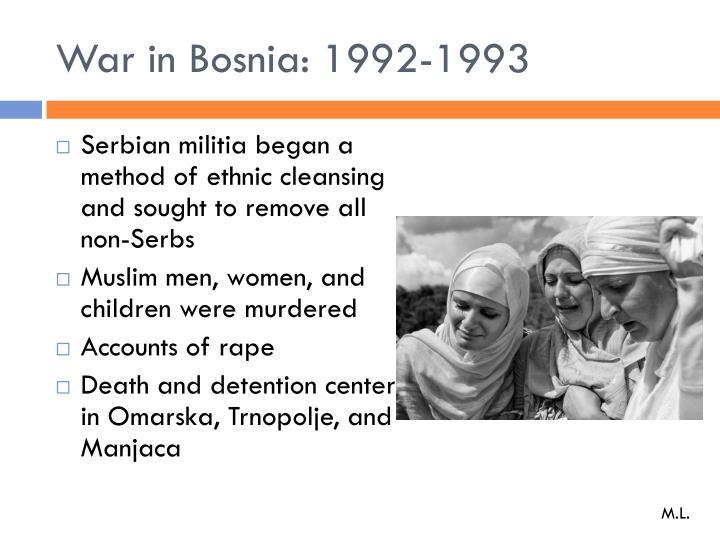 War in Bosnia: 1992-1993