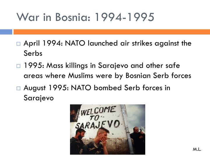 War in Bosnia: 1994-1995