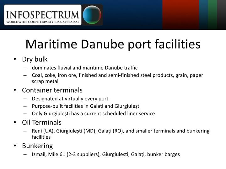 Maritime Danube port facilities