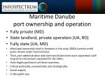 maritime danube port ownership and operation
