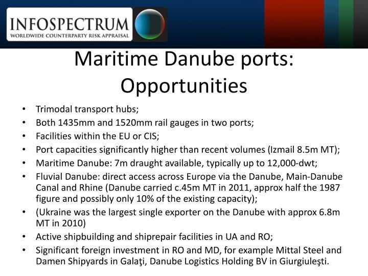 Maritime Danube ports: