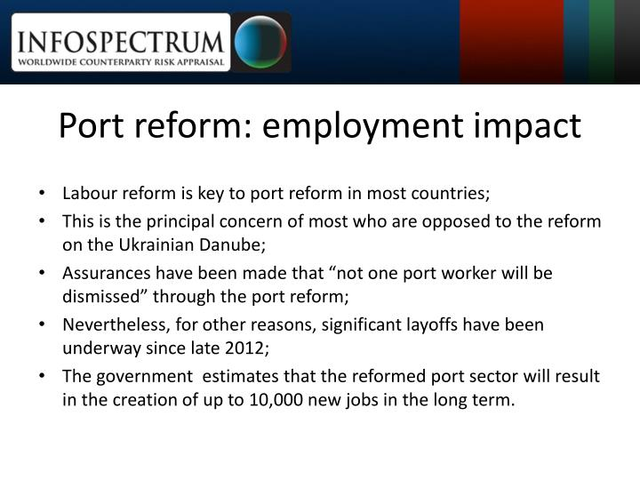 Port reform: employment impact