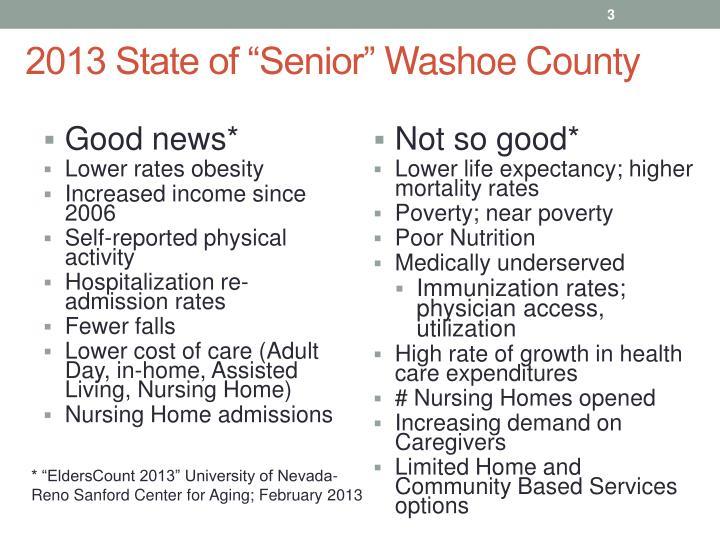 "2013 State of ""Senior"""