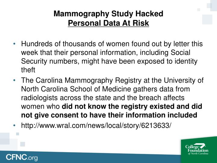 Mammography Study Hacked