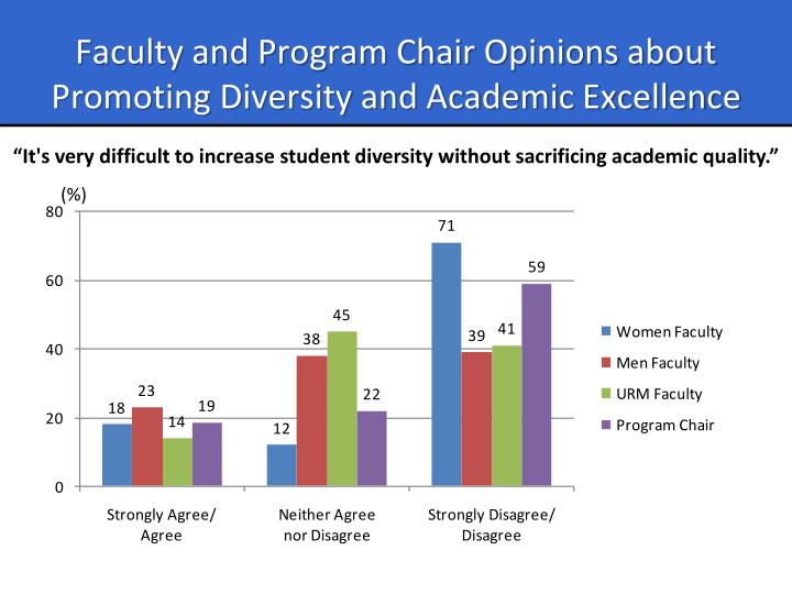 Faculty and Program Chair Opinions about Promoting Diversity and Academic Excellence