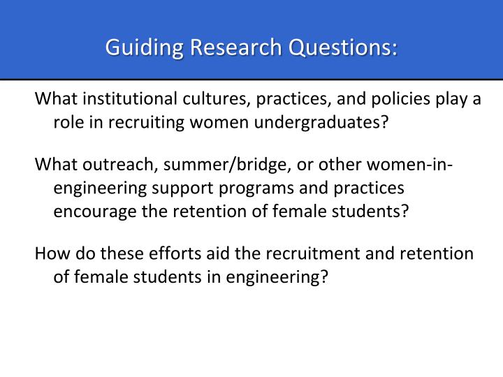 Guiding Research Questions: