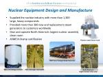 nuclear equipment design and manufacture