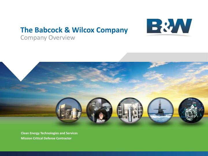 The babcock wilcox company company overview